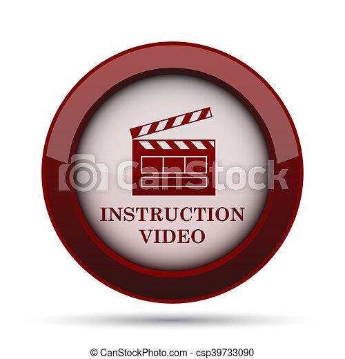 Instruction video icon - csp39733090