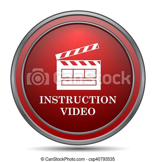 Instruction video icon - csp40793535
