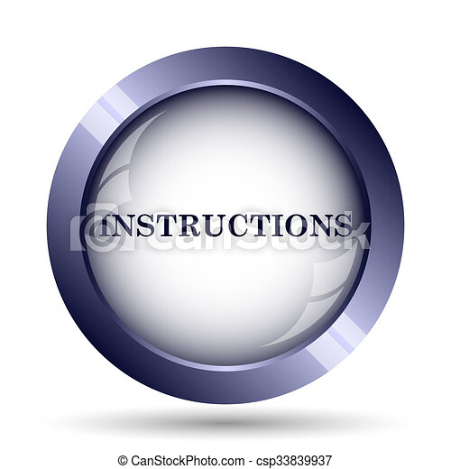 Instructions Icon Internet Button On White Background