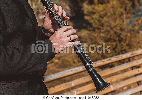 instrument, klarnet, muzyczny - csp41046382