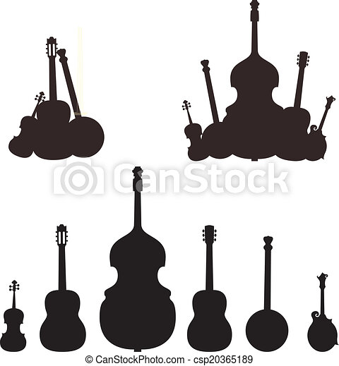 instrument, sylwetka, muzyczny - csp20365189