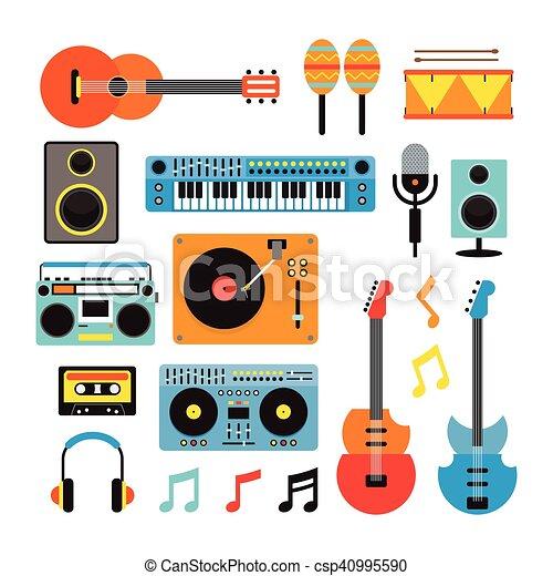 Eps vektorbilder von instrumente satz musik gegenst nde for Meine wohnung click design free
