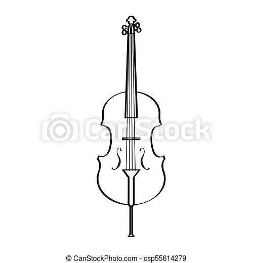 Instrumento Icon Isolado Cello Musical