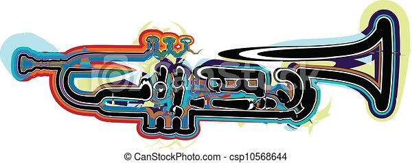 Ilustración de instrumentos de música - csp10568644