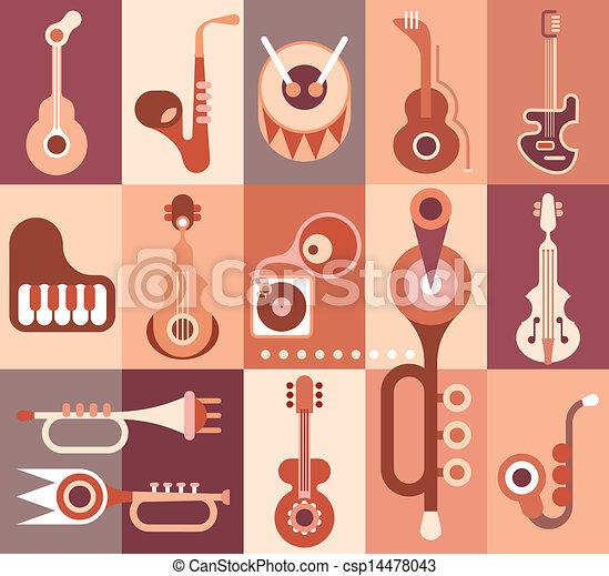 Instrumentos musicales - csp14478043