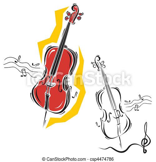 instrumentos, música - csp4474786