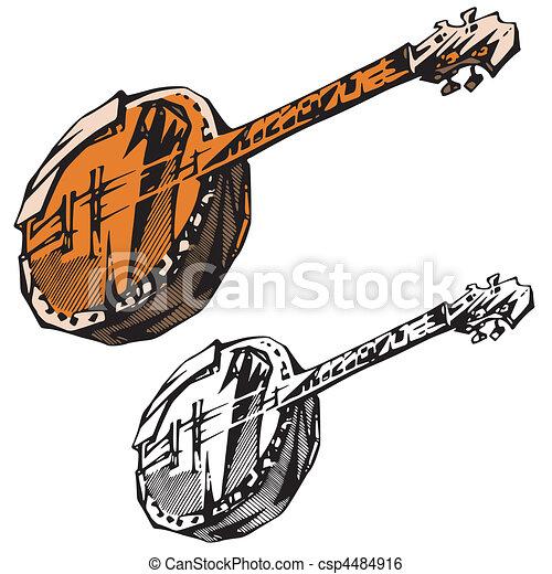 instrumentos, música - csp4484916