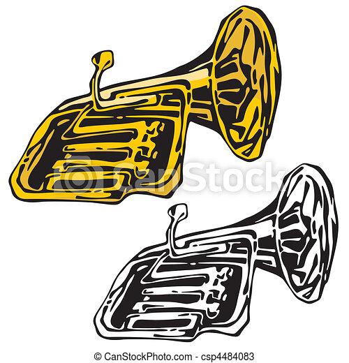 instrumentos, música - csp4484083