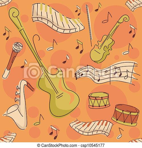 instrumentos, musical, fundo - csp10545177