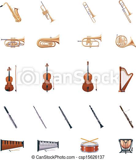 instrumentos, vetorial, orquestra - csp15626137