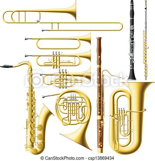 Instrumentos de viento - csp13869434