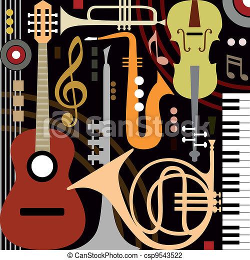 instrumentować, abstrakcyjny, muzyczny - csp9543522