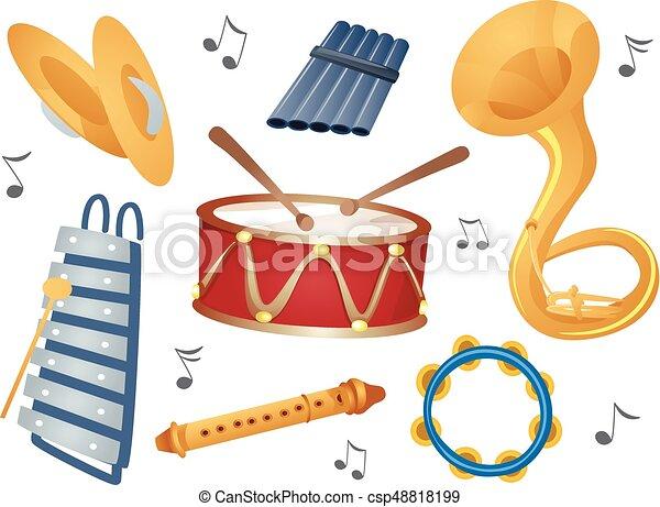 Instruments Elements Illustration - csp48818199