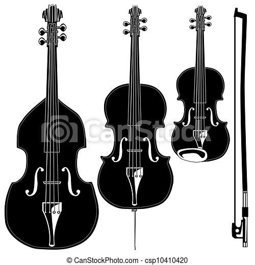 instruments stringed, vecteur - csp10410420
