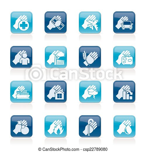 Insurance and risk icons - csp22789080