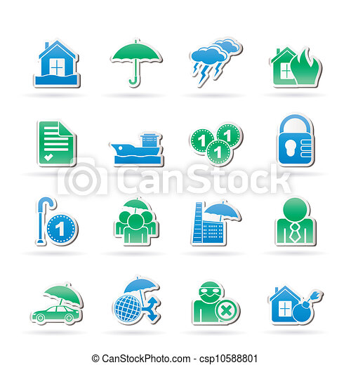 Insurance and risk icons - csp10588801