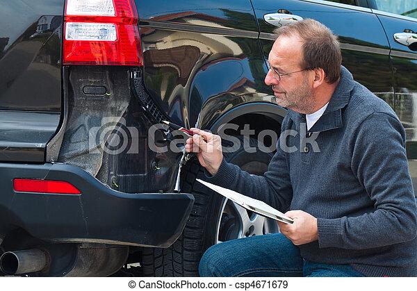 Insurance claim on the car. Car Insurance - csp4671679
