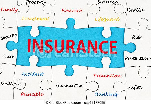 Insurance concept word cloud - csp17177085