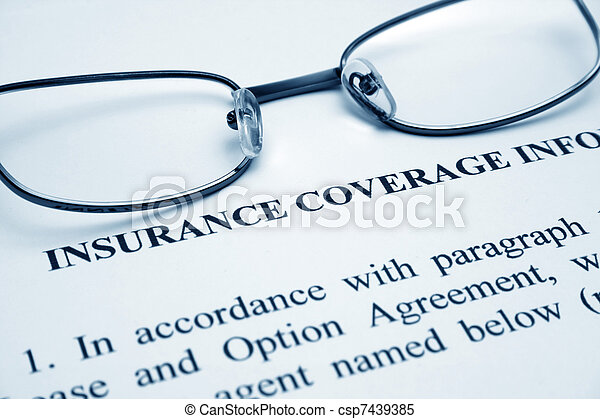 insurance coverage - csp7439385