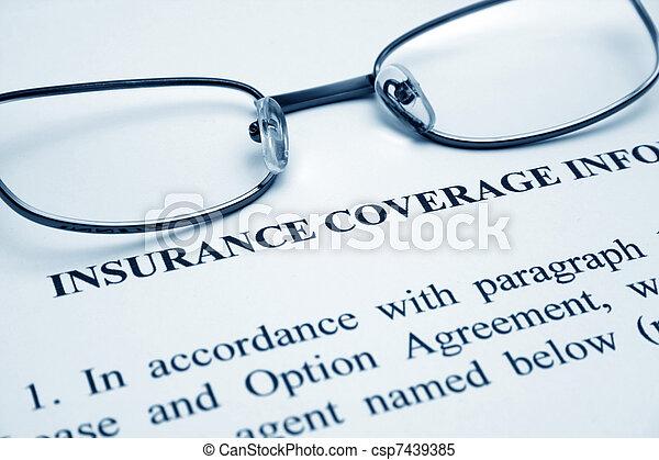 insurance coverage - csp7439385