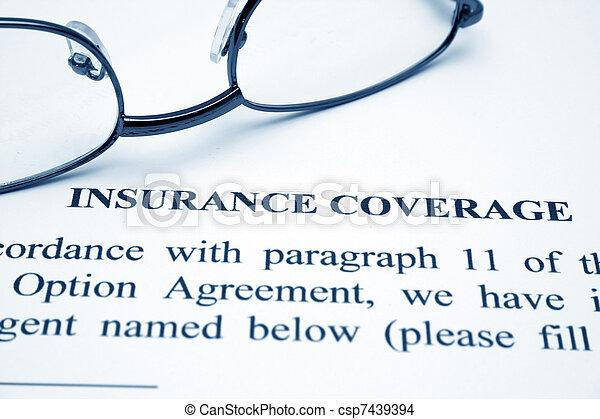 Insurance coverage - csp7439394