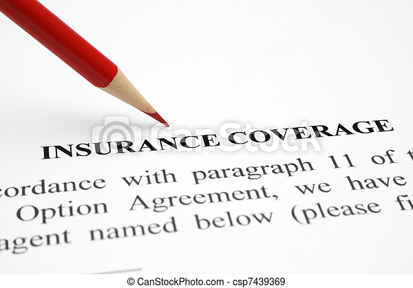 Insurance coverage - csp7439369