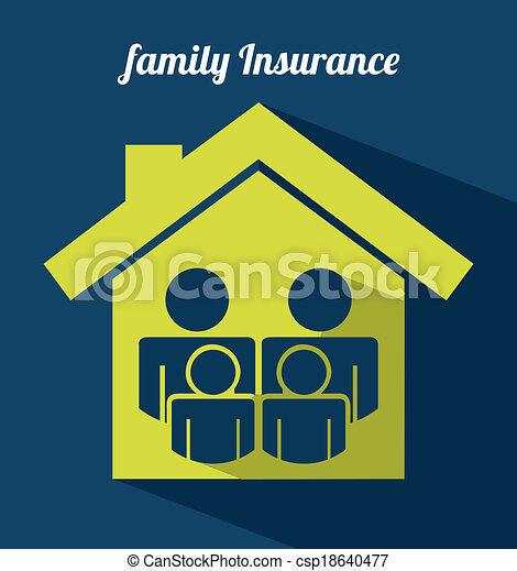insurance design  - csp18640477