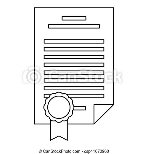 Insurance document icon, outline style - csp41070960