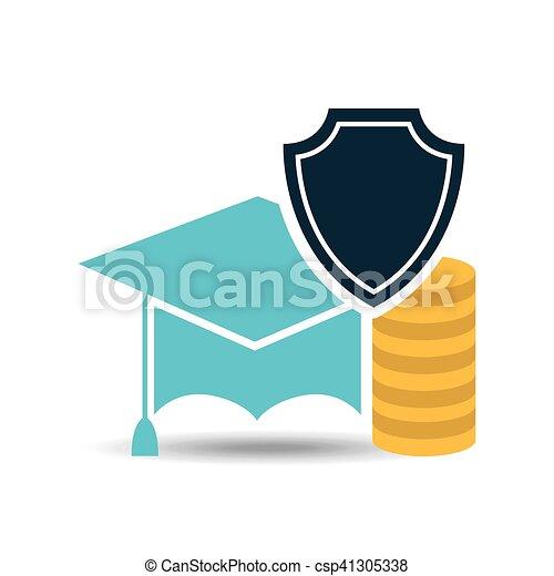 insurance education money protection design vector illustration rh canstockphoto com Money Clip Art Adult Education Clip Art