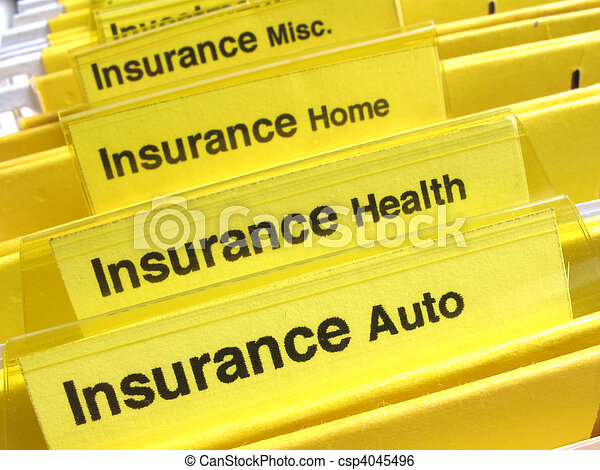 Insurance folders - csp4045496
