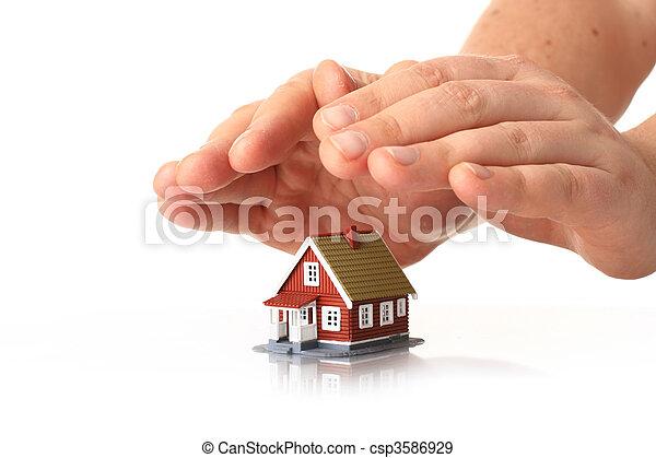 insurance., haus - csp3586929