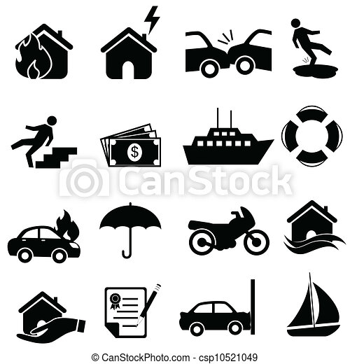 Insurance icon set - csp10521049