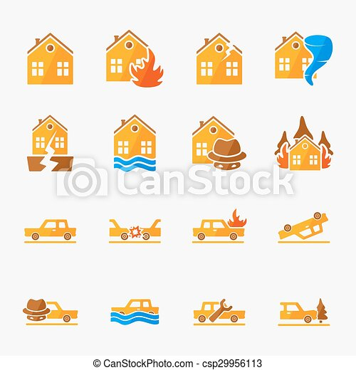 Insurance icons set - csp29956113