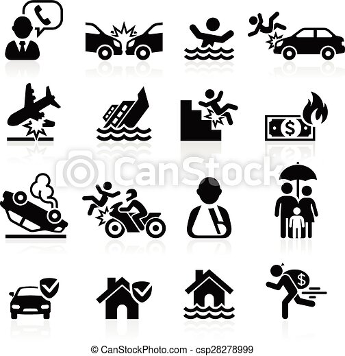 Insurance icons set. Vector Illustration. - csp28278999