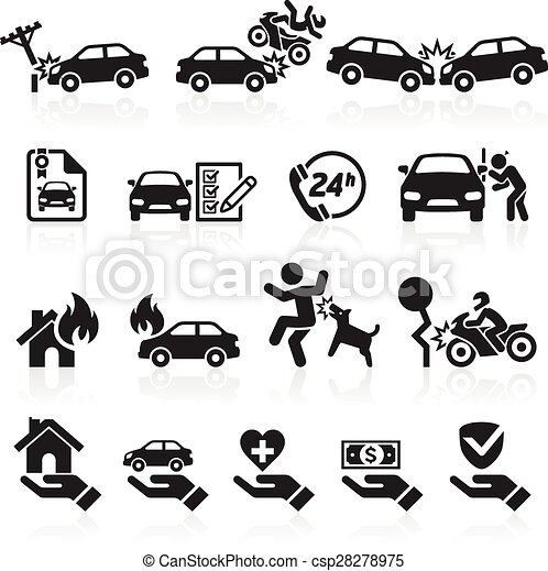 Insurance icons set. Vector Illustration. - csp28278975