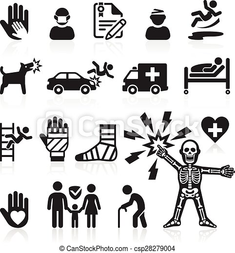Insurance icons set. Vector Illustration. - csp28279004