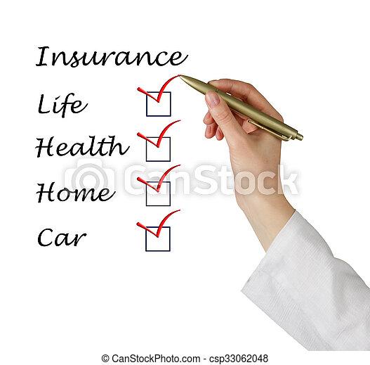 Insurance list - csp33062048