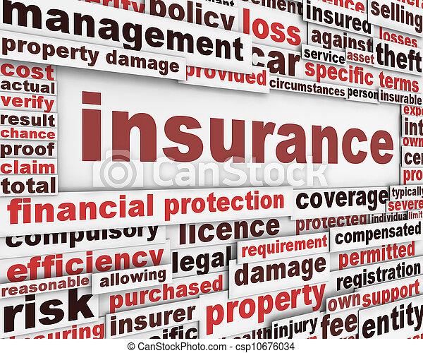 Insurance message concept - csp10676034