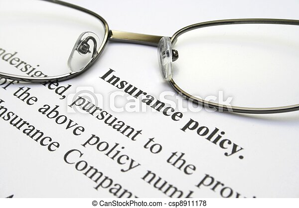 Insurance policy - csp8911178