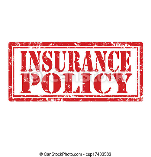 Insurance policy-stamp. Grunge rubber stamp with text ...