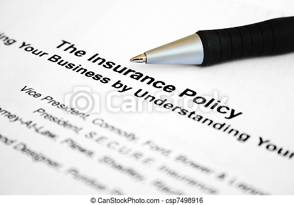 Insurance policy - csp7498916
