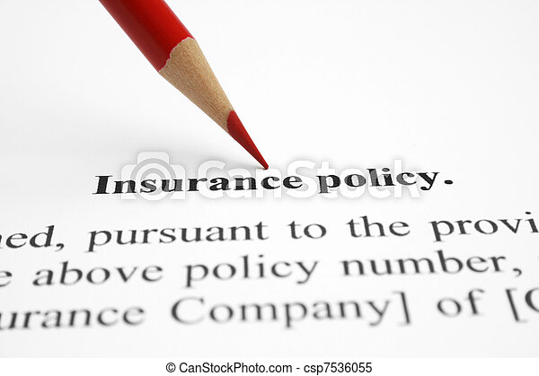 insurance policy - csp7536055