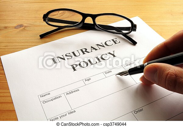 insurance policy - csp3749044