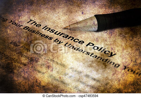 Insurance policy - csp47483594
