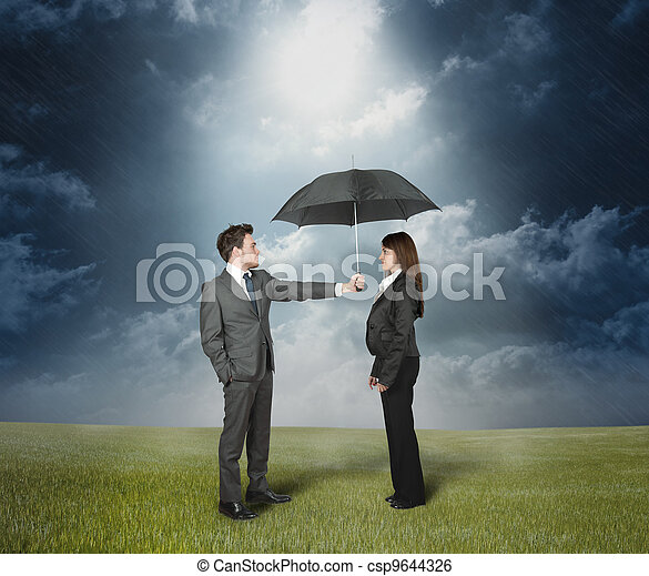 Insurance protection concept - csp9644326