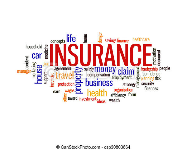 Insurance protection concept word cloud - csp30803864