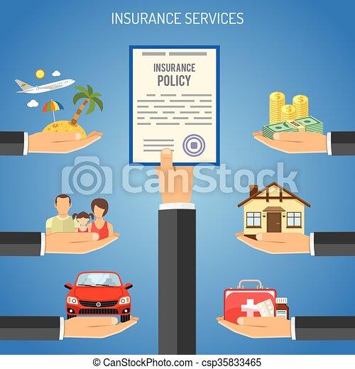 Insurance Services Concept - csp35833465