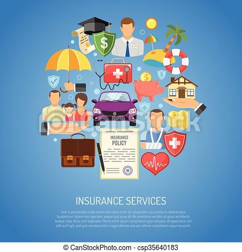 Insurance Services Concept - csp35640183