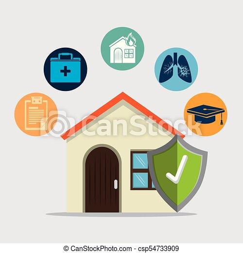 insurance services concept - csp54733909