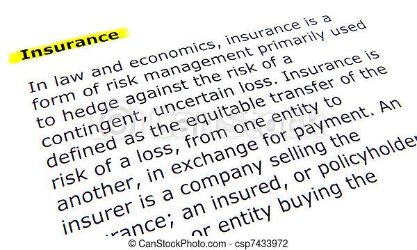 Insurance - csp7433972
